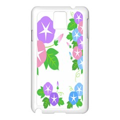 Flower Floral Star Purple Pink Blue Leaf Samsung Galaxy Note 3 N9005 Case (white) by Mariart