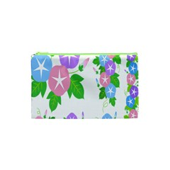 Flower Floral Star Purple Pink Blue Leaf Cosmetic Bag (xs) by Mariart