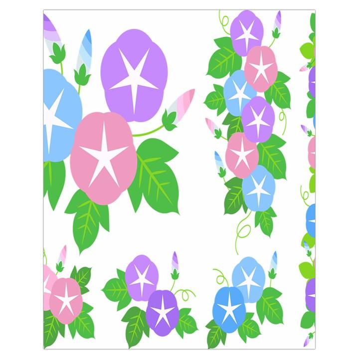 Flower Floral Star Purple Pink Blue Leaf Drawstring Bag (Small)