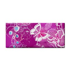 Flower Butterfly Pink Cosmetic Storage Cases by Mariart