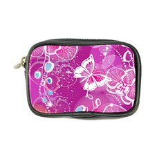 Flower Butterfly Pink Coin Purse by Mariart