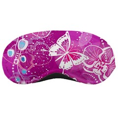 Flower Butterfly Pink Sleeping Masks by Mariart