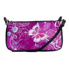 Flower Butterfly Pink Shoulder Clutch Bags by Mariart