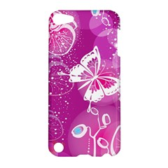 Flower Butterfly Pink Apple Ipod Touch 5 Hardshell Case by Mariart