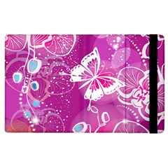 Flower Butterfly Pink Apple Ipad 2 Flip Case by Mariart