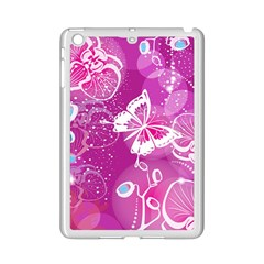 Flower Butterfly Pink Ipad Mini 2 Enamel Coated Cases by Mariart