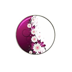 Flower Purple Sunflower Star Butterfly Hat Clip Ball Marker by Mariart