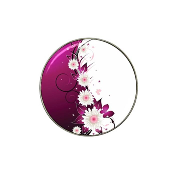 Flower Purple Sunflower Star Butterfly Hat Clip Ball Marker