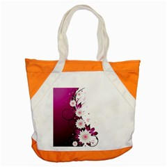 Flower Purple Sunflower Star Butterfly Accent Tote Bag by Mariart