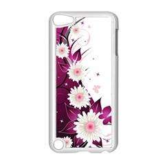 Flower Purple Sunflower Star Butterfly Apple Ipod Touch 5 Case (white) by Mariart