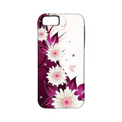 Flower Purple Sunflower Star Butterfly Apple Iphone 5 Classic Hardshell Case (pc+silicone)