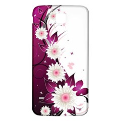 Flower Purple Sunflower Star Butterfly Samsung Galaxy S5 Back Case (white) by Mariart