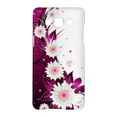 Flower Purple Sunflower Star Butterfly Samsung Galaxy A5 Hardshell Case  by Mariart