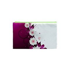 Flower Purple Sunflower Star Butterfly Cosmetic Bag (xs) by Mariart