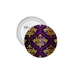 Flower Purplle Gold 1 75  Buttons by Mariart