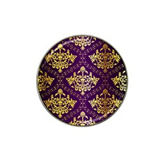 Flower Purplle Gold Hat Clip Ball Marker (10 Pack) by Mariart