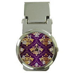 Flower Purplle Gold Money Clip Watches by Mariart