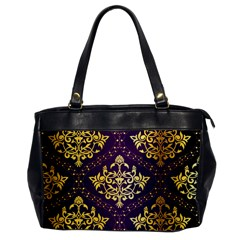 Flower Purplle Gold Office Handbags by Mariart