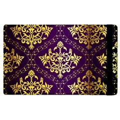 Flower Purplle Gold Apple Ipad 3/4 Flip Case by Mariart
