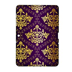 Flower Purplle Gold Samsung Galaxy Tab 2 (10 1 ) P5100 Hardshell Case  by Mariart