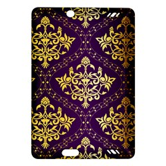 Flower Purplle Gold Amazon Kindle Fire Hd (2013) Hardshell Case by Mariart