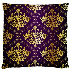 Flower Purplle Gold Standard Flano Cushion Case (one Side) by Mariart