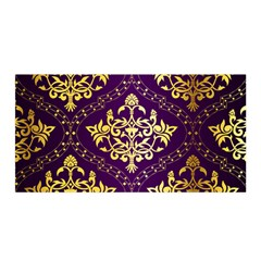 Flower Purplle Gold Satin Wrap by Mariart