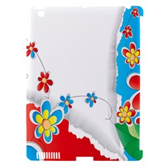 Flower Floral Papper Butterfly Star Sunflower Red Blue Green Leaf Apple Ipad 3/4 Hardshell Case (compatible With Smart Cover) by Mariart