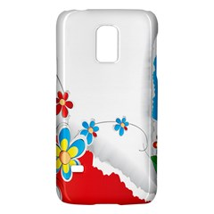 Flower Floral Papper Butterfly Star Sunflower Red Blue Green Leaf Galaxy S5 Mini by Mariart