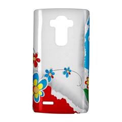 Flower Floral Papper Butterfly Star Sunflower Red Blue Green Leaf Lg G4 Hardshell Case by Mariart