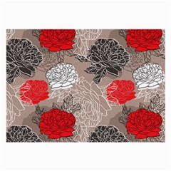 Flower Rose Red Black White Large Glasses Cloth by Mariart