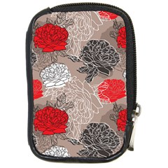 Flower Rose Red Black White Compact Camera Cases by Mariart