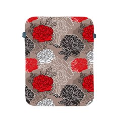 Flower Rose Red Black White Apple Ipad 2/3/4 Protective Soft Cases by Mariart
