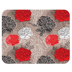 Flower Rose Red Black White Double Sided Flano Blanket (medium)  by Mariart
