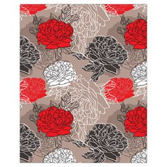 Flower Rose Red Black White Drawstring Bag (small) by Mariart