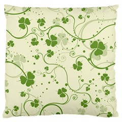 Flower Green Shamrock Large Cushion Case (one Side) by Mariart