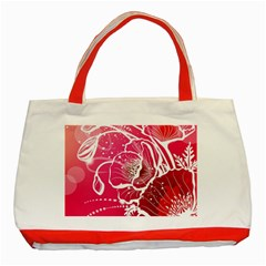 Flower Red Sakura Pink Classic Tote Bag (red) by Mariart