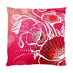 Flower Red Sakura Pink Standard Cushion Case (two Sides) by Mariart
