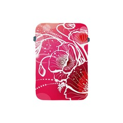 Flower Red Sakura Pink Apple Ipad Mini Protective Soft Cases by Mariart