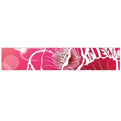 Flower Red Sakura Pink Flano Scarf (large) by Mariart
