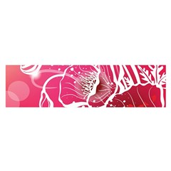 Flower Red Sakura Pink Satin Scarf (oblong) by Mariart