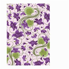 Flower Sakura Star Purple Green Leaf Small Garden Flag (two Sides) by Mariart