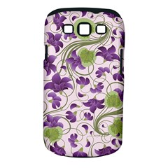 Flower Sakura Star Purple Green Leaf Samsung Galaxy S Iii Classic Hardshell Case (pc+silicone) by Mariart