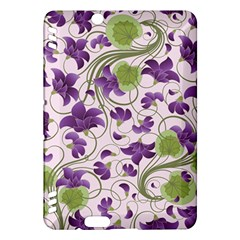 Flower Sakura Star Purple Green Leaf Kindle Fire Hdx Hardshell Case by Mariart