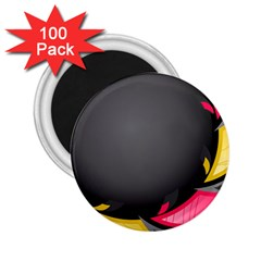 Hole Circle Line Red Yellow Black Gray 2 25  Magnets (100 Pack)  by Mariart