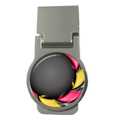 Hole Circle Line Red Yellow Black Gray Money Clips (round)  by Mariart