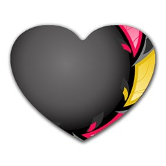 Hole Circle Line Red Yellow Black Gray Heart Mousepads by Mariart