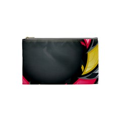 Hole Circle Line Red Yellow Black Gray Cosmetic Bag (small)  by Mariart