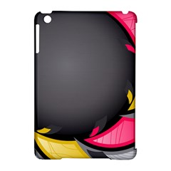 Hole Circle Line Red Yellow Black Gray Apple Ipad Mini Hardshell Case (compatible With Smart Cover) by Mariart