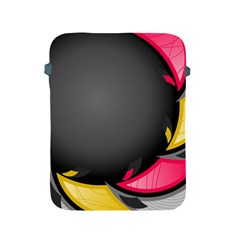 Hole Circle Line Red Yellow Black Gray Apple Ipad 2/3/4 Protective Soft Cases by Mariart